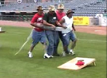 obstacle race game - saran wrap race